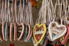 Corazón del pan de jengibre Foto de archivo libre de regalías