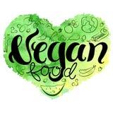 Corazón del vegano Imagenes de archivo