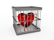 Corazón en cárcel Imagen de archivo libre de regalías