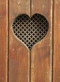 Corazón en madera Imagen de archivo libre de regalías