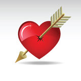 Corazón-flecha Imagenes de archivo