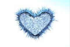 Corazón frío helado Imágenes de archivo libres de regalías