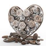 Corazón hecho de engranajes Fotografía de archivo libre de regalías