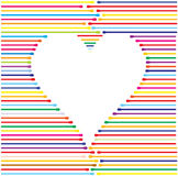 Corazón hecho de líneas de color, ilustración del vector Imagen de archivo