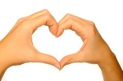 Corazón humano de la mano Fotos de archivo libres de regalías