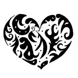 Corazón para colorear o el tatuaje Fotos de archivo