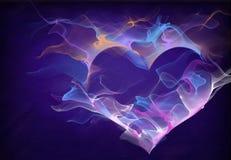 Corazón púrpura Imagen de archivo libre de regalías
