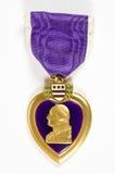 Corazón púrpura (series del Memorial Day) Foto de archivo libre de regalías