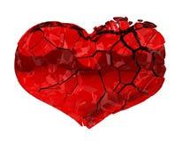 Corazón quebrado - amor no recompensado, dolor Imagen de archivo libre de regalías