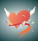 Corazón rojo enrrollado Fotografía de archivo libre de regalías
