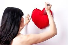 Corazón roto Fotos de archivo libres de regalías