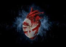 Corazón sangrante Foto de archivo libre de regalías