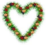 Corazón verde hueco (formato del AI disponible) Imagen de archivo
