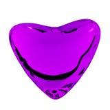 Corazón violeta Imagen de archivo libre de regalías