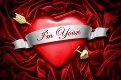 Corazón y flecha Foto de archivo libre de regalías