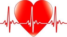 Corazón y latido del corazón Imagen de archivo libre de regalías