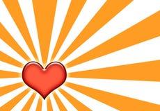 corazon abstrakcyjna tapeta sunburst Fotografia Royalty Free