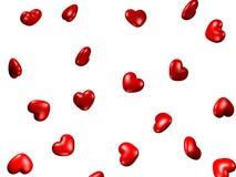 corazones 3d Fotografía de archivo