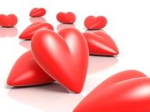 corazones 3D Fotografía de archivo libre de regalías