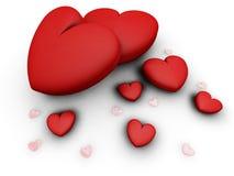 corazones 3D stock de ilustración