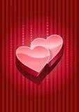 corazones 3d Fotos de archivo