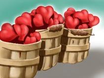 Corazones Stock de ilustración
