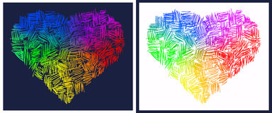 Corazones abstractos del arco iris Foto de archivo libre de regalías
