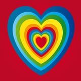 Corazón del día de tarjetas del día de San Valentín del vector Imagen de archivo