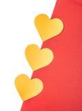 Corazones anaranjados Imagen de archivo libre de regalías