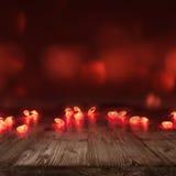 Corazones ardientes para el día de tarjetas del día de San Valentín Foto de archivo libre de regalías