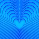 Corazones azules Imagenes de archivo