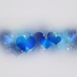 Corazones azules Valentine Decoration Imagen de archivo libre de regalías