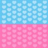 Corazones azules y rosados stock de ilustración