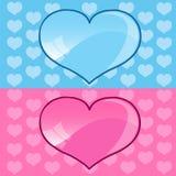 Corazones azules y rosados ilustración del vector
