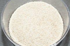 Corazones blancos de la semilla de sésamo Imagen de archivo libre de regalías