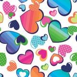 Corazones bonitos del arco iris Imágenes de archivo libres de regalías
