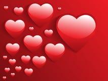 corazones brillantes 3d Imágenes de archivo libres de regalías