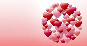 Corazones burbujeantes de las tarjetas del día de San Valentín Fotos de archivo