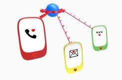 Corazones cariñosos de la comunicación Imágenes de archivo libres de regalías
