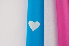 Corazones coloreados Imagen de archivo