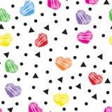 Corazones coloreados Fotografía de archivo libre de regalías