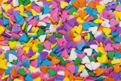 Corazones coloridos Fotografía de archivo