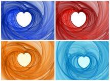 Corazones coloridos Imagen de archivo