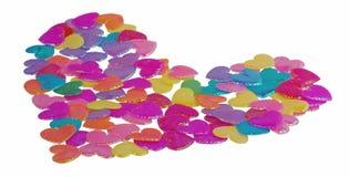 Corazones coloridos Imagen de archivo libre de regalías