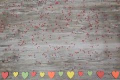 Corazones coloridos Foto de archivo libre de regalías
