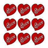 Corazones con amor Foto de archivo