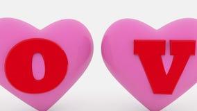 Corazones con concepto del amor ilustración del vector