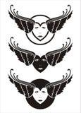 Corazones cons alas Foto de archivo libre de regalías