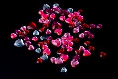 Corazones cristalinos foto de archivo libre de regalías