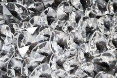 Corazones cristalinos chispeantes foto de archivo libre de regalías